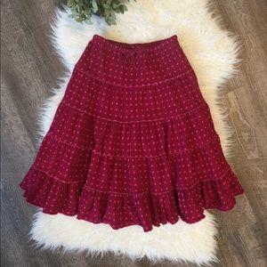 Mini Boden 11/12 twirly polka dot circle skirt